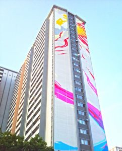 world tallest mural during painting
