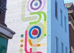 froyo signage painted on side of building
