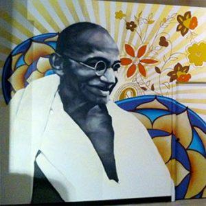 hot bikram yoga mural portfolio thumbnail
