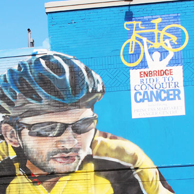 ride to conquer cancer sporting life mural portfolio thumb