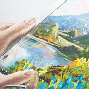 ipad watercolor mural thumb