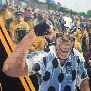 ride to conquer cancer silversteins bakery mural portfolio thumb