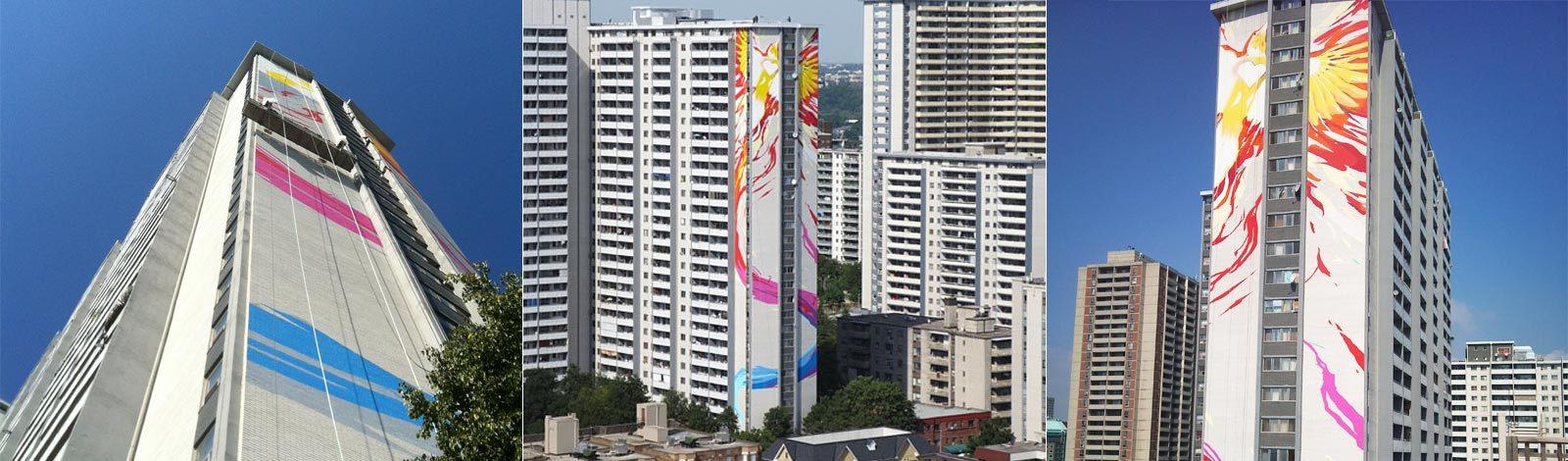 worlds tallest mural from different angles