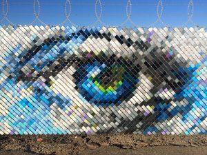 hyde & seek fence artwork in adelaide