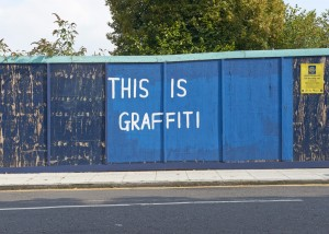 ian stevenson artwork that reads this is graffiti