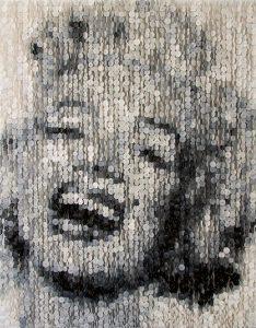 augusto esquivel's button art marilyn monroe