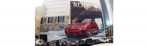 hand painted bmw advertising mural