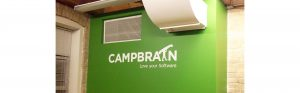 campbrain hand painted office sign