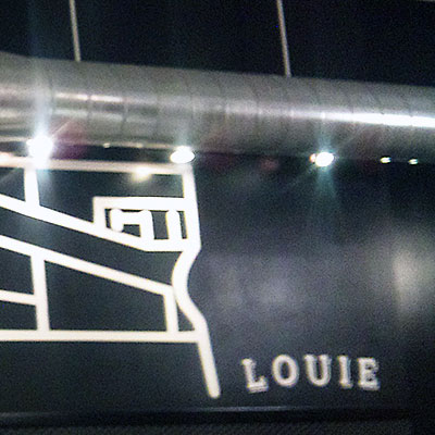 louie coffee shop mural & signage thumbnail