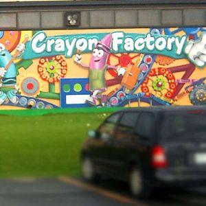 crayola crayon factory mural
