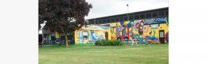 crayola factory mural close up