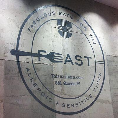 feast restaurant signage
