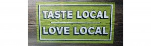 hand painted advertising sign for lcbo