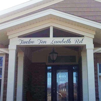 custom residential address signage thumb
