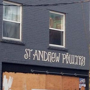 st andrew poultry storefront signage thumb