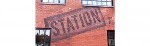station exterior restaurant mural