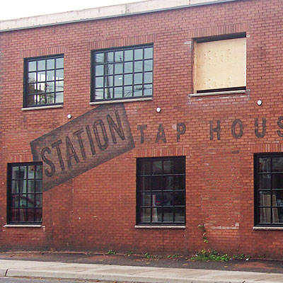 the station custom hand painted bar signage and mural