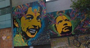google street art project image showcasing mural with two faces