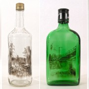 examples of bottle artwork by jim dingilian