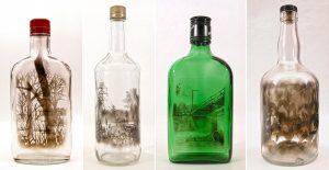 examples of bottle artwork by jim dingilian