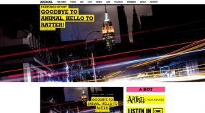 animal new york online magazine website header