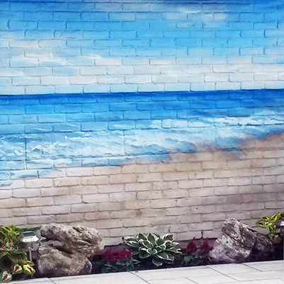 beach backyard pool mural thumb