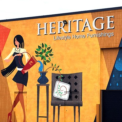 heritage lifestyle home furnishings mural thumbnail