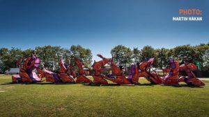 huge mural sculpture by artist kwest