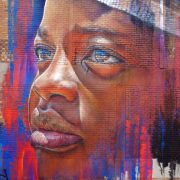close up of portrait painted during the city of art festival