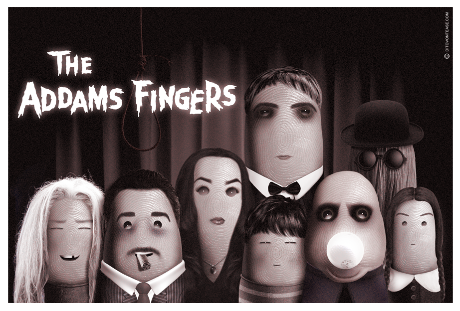 the addams fingers artwork by dito von tease