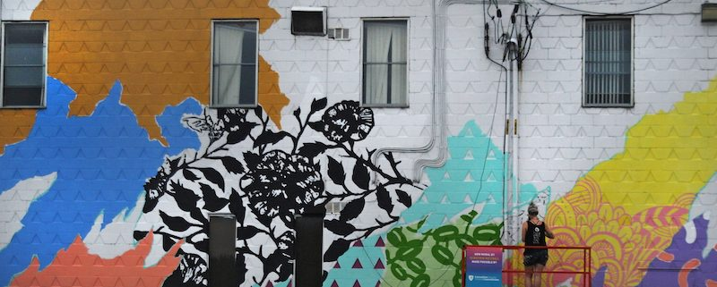 'untitled' kirsten mccrea mural at up here
