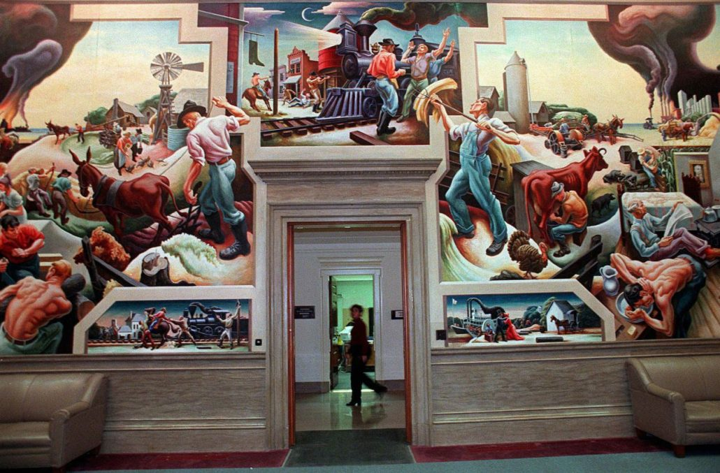 jefferson city thomas benton huge mural