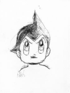 Astro Boy by Paul-II Artistic Robot - created by Patrick Tresset